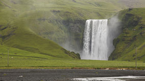 Iceland. South area. Skogafoss waterfall and sorrounding zone. Royalty Free Stock Photo