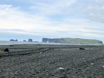 Iceland. South Coast Beach Vik Stock Photos