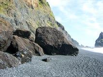 Iceland. South Coast Beach Vik Stock Images