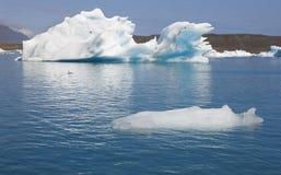 Iceland. Southeast area. Jokulsarlon. Icebergs and lake. Stock Photo
