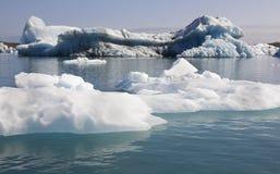 Iceland. Southeast area. Jokulsarlon. Icebergs and lake. Royalty Free Stock Image