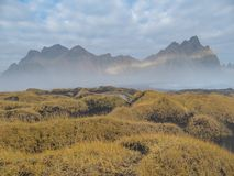 Iceland - Spiky mountains of Vestrahorn stock images