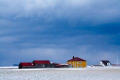 iceland storm Arkivfoton