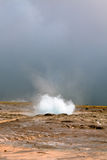 Iceland: Strokkur Geyser Eruption Stock Photography