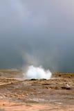 Iceland: Strokkur Geyser Eruption Stock Photography