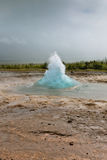Iceland: Strokkur Geyser Eruption Royalty Free Stock Photos