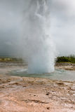 Iceland: Strokkur Geyser Eruption Royalty Free Stock Photo