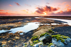 Iceland sunrise panorama Stock Images