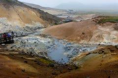 Iceland termiczna siarkawa wiosna zdjęcie royalty free