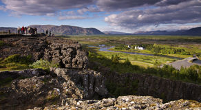 Iceland: Thingvellir national park Royalty Free Stock Photo