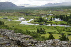 Iceland - Thingvellir National Park - Golden Circle. Iceland - Thingvellir National Park - UNESCO World Heritage Site - The seperation of two tectonic plates Royalty Free Stock Photography