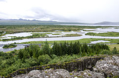 Iceland - Thingvellir National Park - Golden Circle. Iceland - Thingvellir National Park - UNESCO World Heritage Site - The seperation of two tectonic plates Stock Images