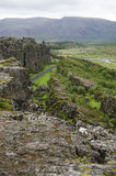 Iceland - Thingvellir National Park - Golden Circle. Iceland - Thingvellir National Park - UNESCO World Heritage Site - The seperation of two tectonic plates Royalty Free Stock Image