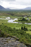 Iceland - Thingvellir National Park - Golden Circle. Iceland - Thingvellir National Park - UNESCO World Heritage Site - The seperation of two tectonic plates Stock Photos
