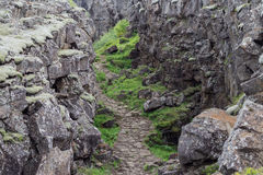 Iceland Thingvellir National Park. Iceland mountain pass in Thingvellir National Park Stock Image