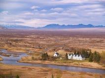 iceland thingvellir royaltyfri foto