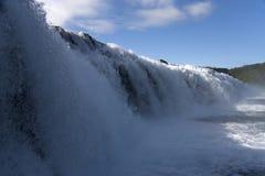 Iceland tjaldsvaedi waterfall Royalty Free Stock Photo