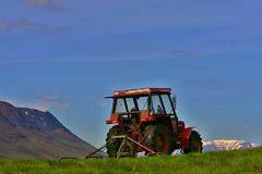 Iceland tractor Royalty Free Stock Photography