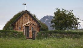 Iceland. Traditional icelandic wooden house. North Iceland Stock Image