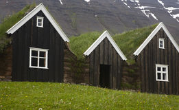 Iceland. Traditional icelandic wooden houses. North Iceland. Stock Photo