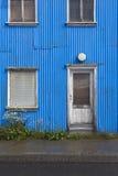 Iceland. Traditional metallic islandic facade. Stock Images