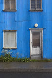 Iceland. Traditional metallic islandic facade. Royalty Free Stock Photos