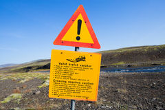 Iceland traffic signs Royalty Free Stock Photography