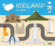 Iceland travel background Landmark Global Travel And Journey  Royalty Free Stock Photography