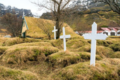 Iceland turf church Stock Images