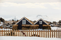 Iceland typical houses Stock Photos