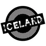 Iceland typographic stamp stock illustration