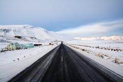 iceland väg royaltyfri fotografi