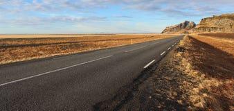 iceland väg Fotografering för Bildbyråer