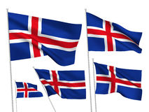 Iceland vector flags Stock Photography