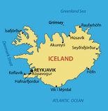 Iceland - vector map of country Stock Photography