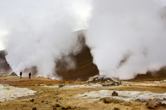 Iceland - Volcanic Fumarole at Namaskard Royalty Free Stock Photo