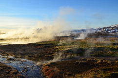 Iceland volcanic landscape Stock Photos