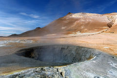 Iceland, Volcanic landscape Namafjall Stock Photo