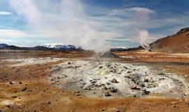 Iceland, Volcanic landscape Namafjall Royalty Free Stock Photography
