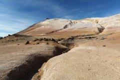 Iceland, Volcanic landscape Namafjall Royalty Free Stock Photo