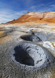 Iceland, Volcanic landscape Namafjall Royalty Free Stock Photos