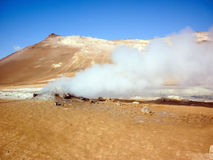 Iceland, Volcanic landscape Namafjall Stock Photography