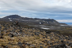 Iceland volcanic lava field in Saefellsnes. Royalty Free Stock Photography
