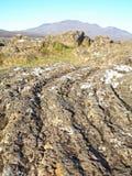 Iceland - volcanic lava terrain. Iceland - volcanic lava extreme terrain royalty free stock photography