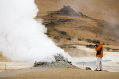 Iceland - Volcanic steam vent Royalty Free Stock Photo