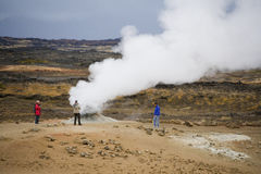 Iceland - Volcanic steam vent Royalty Free Stock Photos