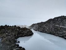 Iceland blue lagoon view from the outside. stock photos