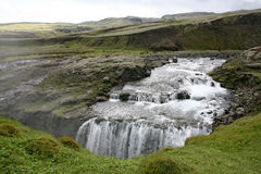 Iceland waterfall Stock Photography