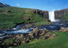 Iceland waterfall Stock Image