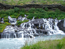 Iceland Waterfall. Barnafoss  Waterfall Iceland in Summer Royalty Free Stock Image